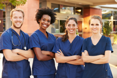 group of nurse smiling