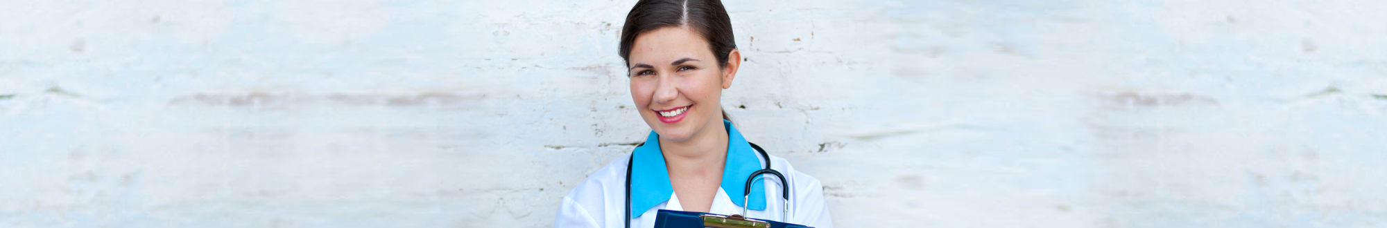 beautiful nurse smiling at camera